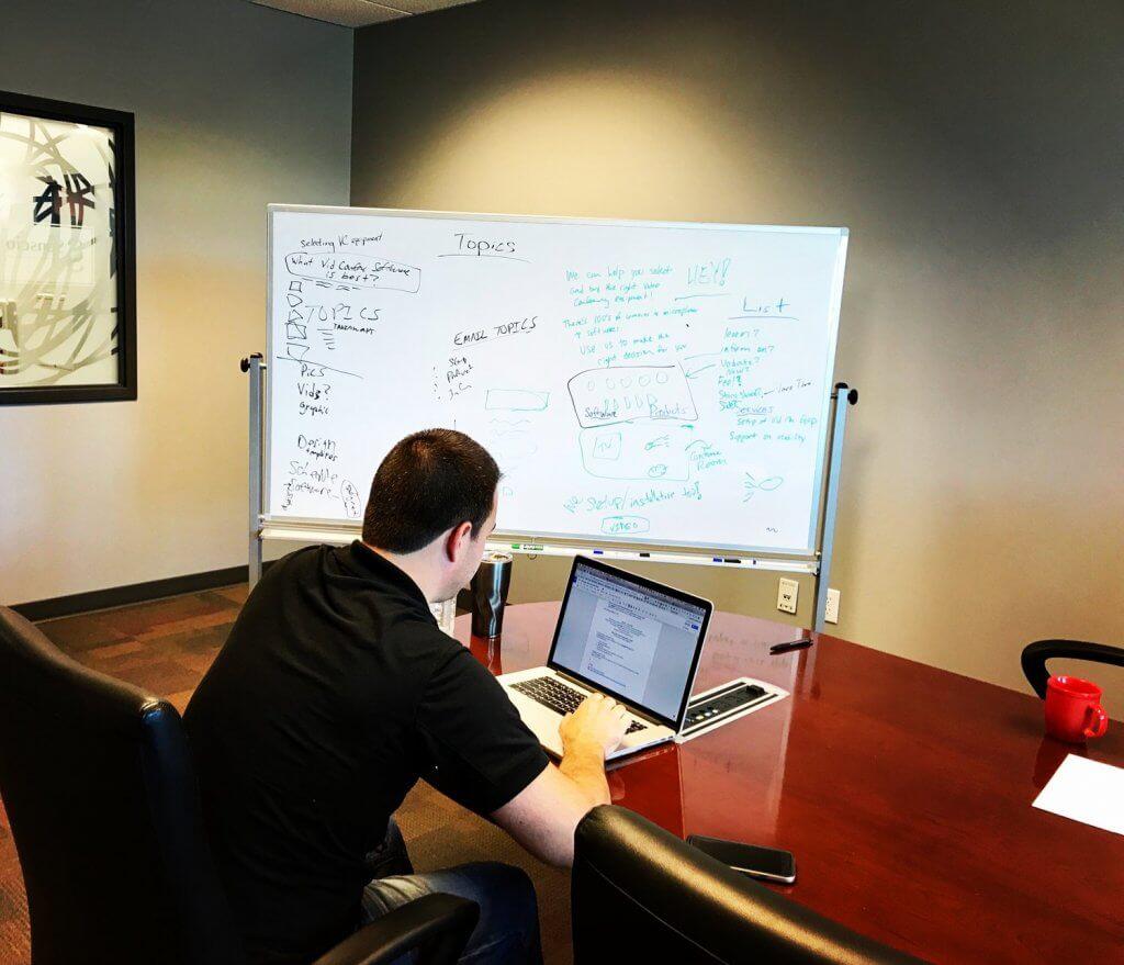 Boardroom with Amos of Sidewalk Technologies
