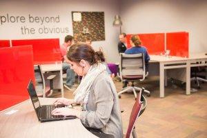 co-working desks at zeal