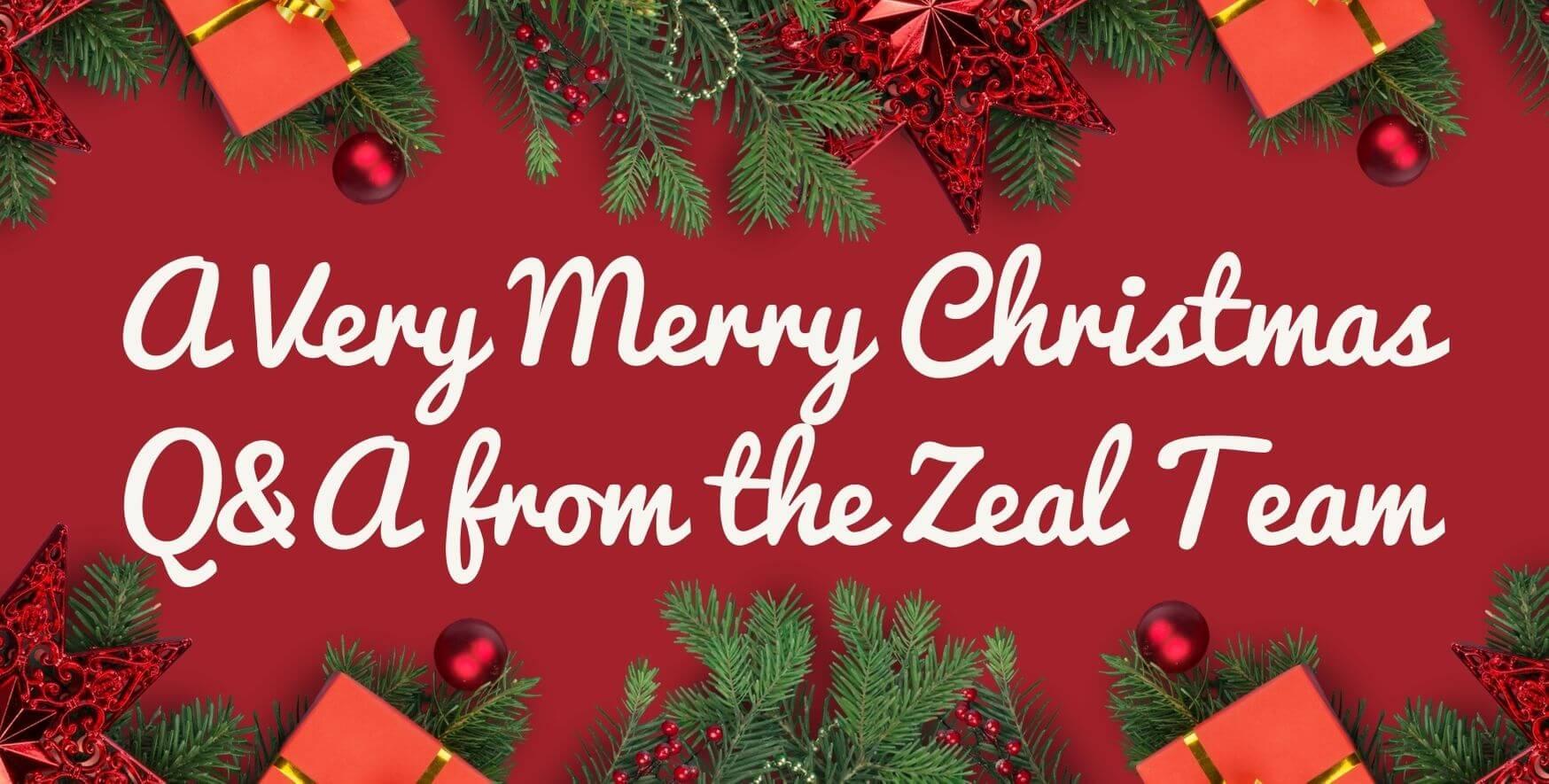 Red Christmas Decor Christmas Thank You Card (1)